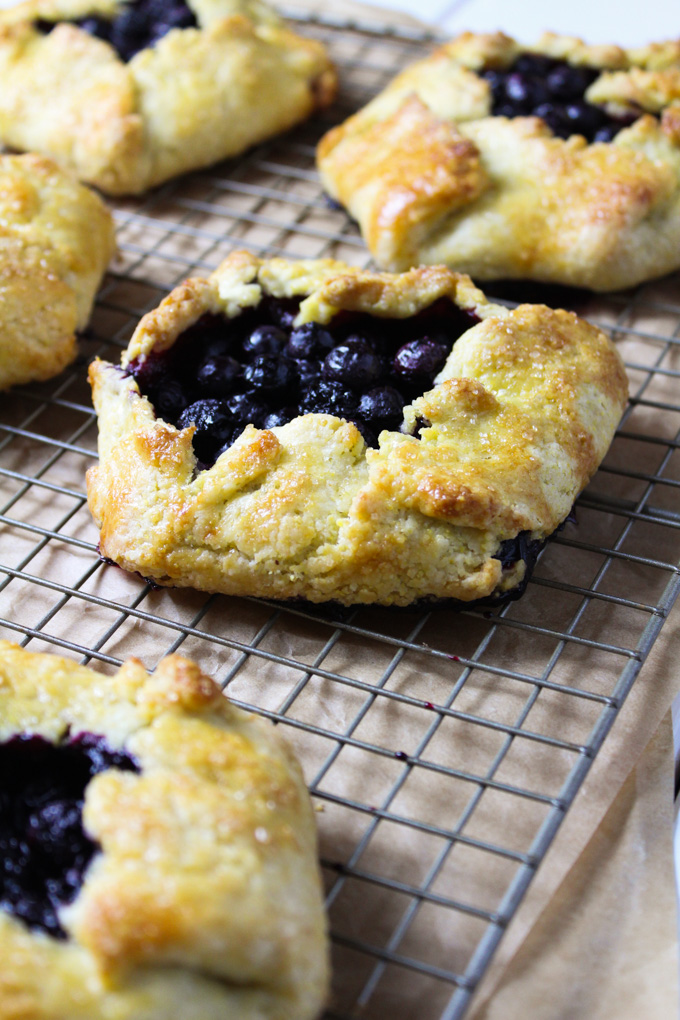 Blueberry Galettes with Cornmeal Crust