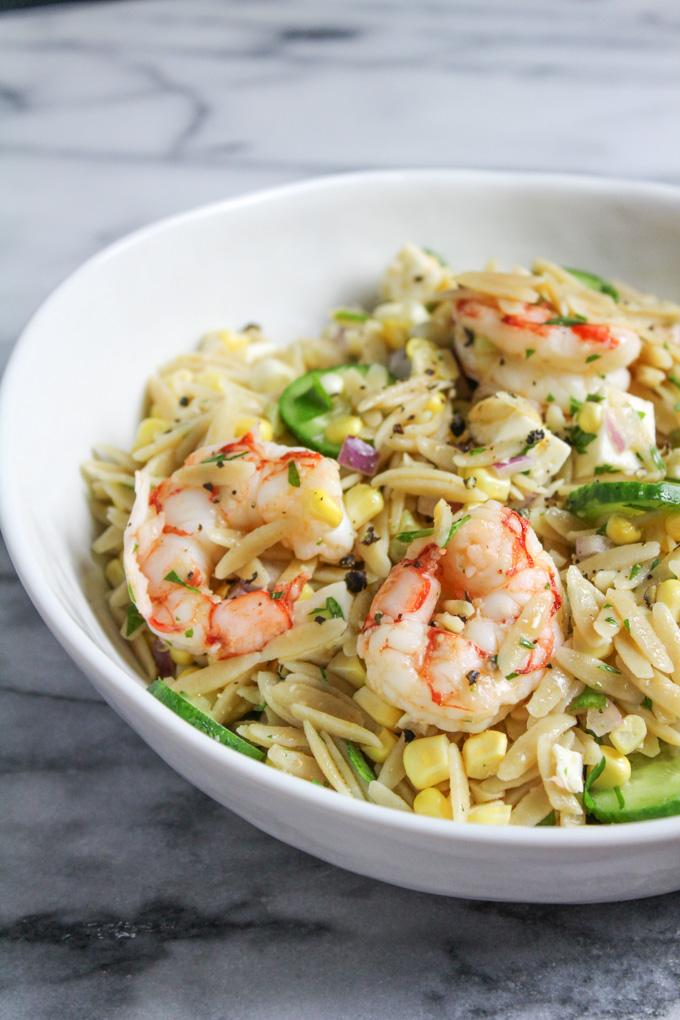 Shrimp Orzo Salad
